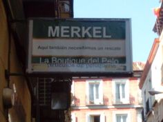 Merkel, la boutique del pelo