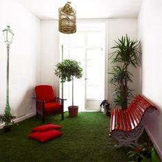 Living Lounge Hostel in Lisbon, Portugal Hostels, Boho Deco, Portugal Travel Guide, Lounge, Floor Chair, Living Room, Furniture, Home Decor, Set Design