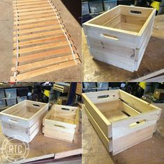 a stack of discarded Ikea pine bed slats? Make Do, How To Make Box, Wooden Projects, Wooden Crafts, Pallet Projects, Wooden Decor, Wooden Diy, Bed Slats Upcycle, Ikea Bed Slats