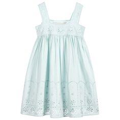 de4137cb2bb Girls mint green  Anemone  dress from Stella McCartney Kids. Made in soft  cotton