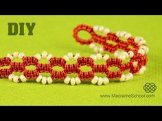 Square Knot Loops Bracelet Tutorial | Macrame School - YouTube