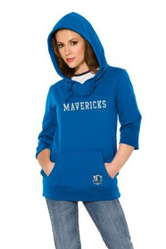 Touch by Alyssa Milano Dallas Mavericks Laser Cut 3/4 Sleeve Pullover Hoodie