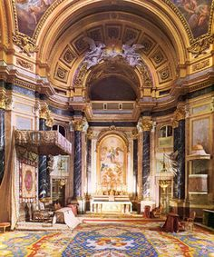Palace Interior, Church Interior, Baroque Architecture, Architecture Details, Jean Antoine Watteau, Baroque Design, Spanish Culture, Spain And Portugal, Royal Palace
