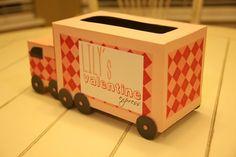 Tangled and True: valentine express - truck valentine mailbox