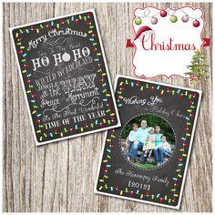 Winter, Christmas, Photo, Card, PRINTABLE, Party, Digital, Birthday, Baby Shower, Holiday, Invitation