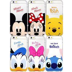 Genuine Disney Cutie Clear Hard Case Galaxy S6 Case Galaxy S6 Edge Case 6 Types #Disney