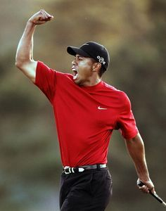 Tiger Woods. Golf. Golfing. Driver. Putter. Fist Pump. Masters. Green Jacket. Sports. The Bryant Sports Show. Bryant and Lesar. The Bryant Wrestling Show.
