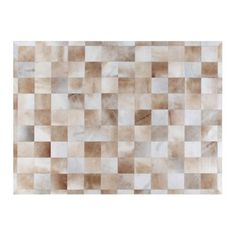 """Check out this item at One Kings Lane! 11'6""""x14'6"""" Stitched Blocks Hide Rug, Be"""