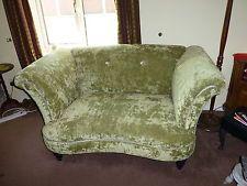 Two Seater Green Velvet Sofa