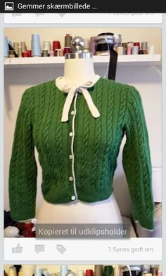 Cable knitted cardigan with tie