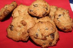 Chocolate Chip Cookies  #NorthwestCavegirls. Replace maple syrup with honey and omit choc. Chips for SCD