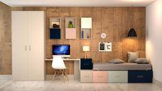 Habitación juvenil con sistema BOX.