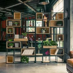 Regal 48 Awesome Bookshelf Ideas To Decorate Your Room Orchid Flowers - Growing Indoors orchids, orc Decor, House Design, Cool Bookshelves, Industrial Interior Style, Classy Rooms, Home Decor, Industrial Style Decor, Decorate Your Room, Room Design