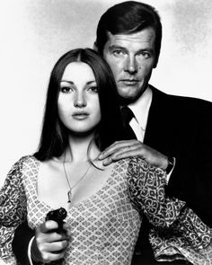 Jane Seymour and Roger Moore in Live and Let Die • 1973