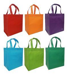 6ee41a2db CYMA Reusable Grocery Tote Bag, Bright Combo | 6 Bag Set. BolsasBandejas  Para ...