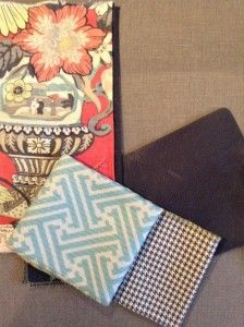 Find the mix that's right for you Eclectic Dining Chairs, Dining Room, Picnic Blanket, Outdoor Blanket, Fabric Combinations, Fabulous Fabrics, Pattern Mixing, Seat Cushions, Interior Decorating