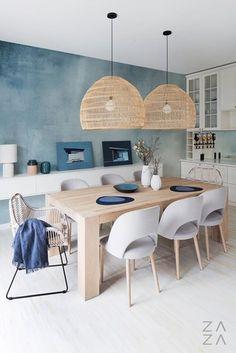 Home Room Design, Dining Room Design, Home Interior Design, Interior Decorating, House Design, Greek Decor, Style Deco, Küchen Design, Beach House Decor