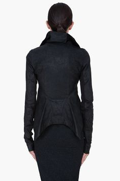 RICK OWENS Black Naska Leather Biker Jacket