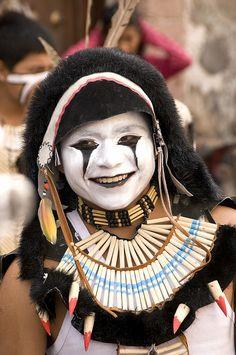 Las Mascaras de la Alborada 2011 #3  Danzante en el desfile de la Alborada, San Miguel de Allende, Guanajuato, Mexico