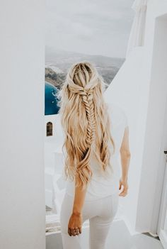 braided beach hair