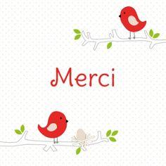Deux jolis petits oiseaux rouges sont là pour remercier vos proches des cadeaux qu'à reçu votre bébé pour sa naissance.  Carte de remerciements 100% personnalisable, nous l'imprimons en 24 heures : http://www.lips.fr/impression/carte-remerciement-naissance/format-130-x-130-2p-modele.html?modele_id=345