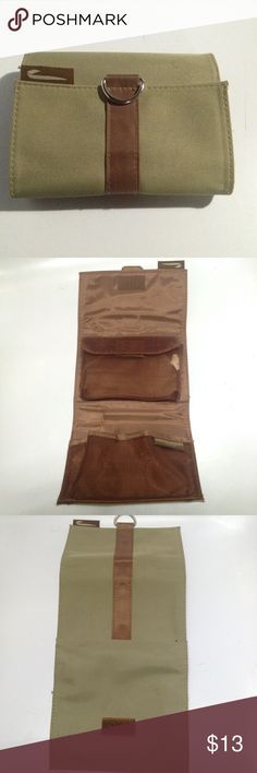 Milton Brown London Foldable Cosmetic Case Khaki Compartment Travel Case Molton Brown London Makeup