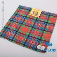 McPherson Ancient Tartan Pocket Square. Free worldwide shipping available