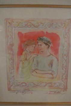 "Edna Hibel ""Romance"" Artist Proof"