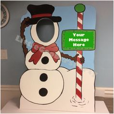 Snowman Photo Booth Prop . Christmas Party by LittleGoobersParty