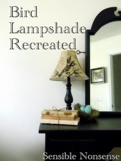 From old, plain lampshade... to fabulous, pretty lampshade!