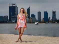 Eugenie Bouchard on the Beach in Perth With a Very Short Dress! (Photos)