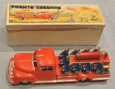 Osul - Pronto Socorro ( Carro de bombeiros ) - Brinquedo antigo , Old Toys , Jouets anciens