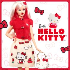 Together at last, the perfect friendship pairing of Barbie and Hello Kitty! Just released!