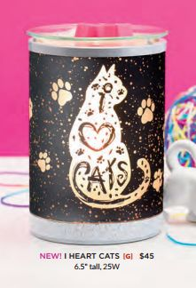 I Heart Cats Scentsy Warmer! New for Scentsy Spring/Summer 2017. Order online or preorder at my website!