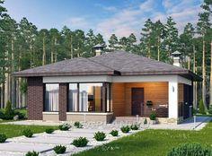 Стильный, компактный дачный дом (372A), Alfaplan.ru