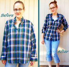Plaid Shirt Refit #howto #tutorial