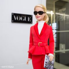 """Barbie® on Instagram: """"First day at the @VogueItalia office, excited to be joining them as Guest Editor in Milan!  #mfw #barbie #barbiestyle"""""""