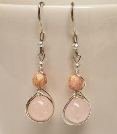 Hey, I found this really awesome Etsy listing at https://www.etsy.com/listing/500232390/rose-quartz-herringbone-earrings