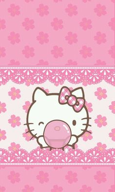 Hello Kitty wallpaper on We Heart It Hello Kitty Themes, Hello Kitty My Melody, Pink Hello Kitty, Hello Kitty Pictures, Sanrio Hello Kitty, Kitty Cam, Hello Kitty Backgrounds, Hello Kitty Wallpaper, Sanrio Wallpaper