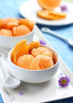 Orange Cantaloupe Sorbet | cookincanuck.com