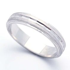 4.5MM Sterling Silver Wedding Band For Men & Women Diamond Cut Ring (5 to 10) Double Accent. $28.99. Sterling Silver Wedding Band. Prompt Shipping