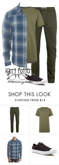 """Harry James Potter"" by thehelsinghatter ❤ liked on Polyvore featuring Topman, Lucky Brand, Converse, mens, men, men's wear, mens wear, male, mens clothing and mens fashion"