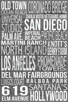 EVERY place Cali has to offer!.......... which city will be my next home?