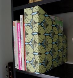 Recycled Magazine Holder (tutorial), Homemade Organizers & Useful Items Made Cute