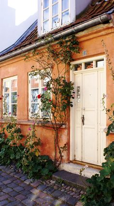 Denmark - this is one of the picturesque Møllestien cottages in Århus