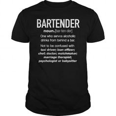 Awesome Tee Bartender Definition Funny Tshirt T shirt