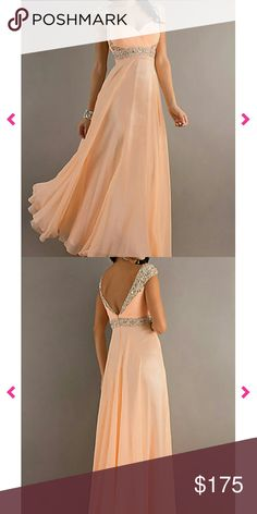 Prom dress/evening gown Size 0. Never worn or altered. Peach with different color jewel and sequence accents. Dresses Prom