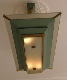 Grote Franse art deco plafond lamp