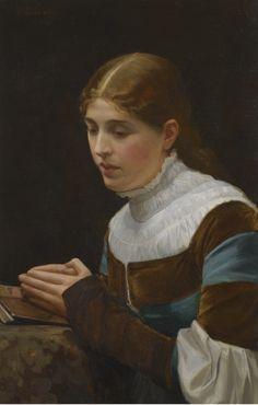 Marguerite's Prayer, Faust Act III, Scene I (1881). Sir John Lavery (Irish, 1856-1941). Oil on canvas.