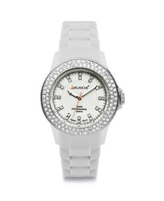 Unisex ρολόι AVALANCHE Bliss White Plasteramic Strap AV-107S-WH-44 -  Αργυρίου a97eede9867